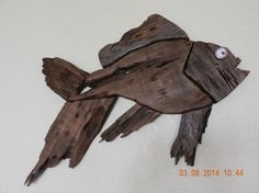 Hand Crafted Fish from Vintage Pecky Cypress by TreasuredSunsets