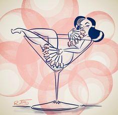 Such a gorgeous illustration! Cartoon Drawings, Cartoon Art, Art Drawings, Pinup Art, Vintage Comics, Vintage Art, Burlesque, Pin Up Girl, Dibujos Pin Up