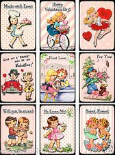 9 RETRO VALENTINE'S DAY/LOVE (38) SCRAPBOOK CARD EMBELLISHMENTS HANG TAGS