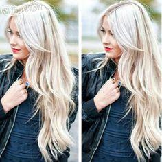 White honey blonde