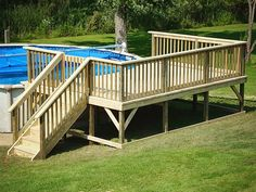 Pool Decks For Above Ground Pools For Small Backyards Google