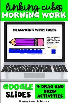 These snap cube activities are THE most engaging digital way to start your day. Keep your first and second graders engaged with digital morning work or digital math centers. These digital activities for Google Slides provide review of math concepts using linking cubes or snap cubes. Students work on area, measurement, patterning, spatial awareness #morningtubs #mathcenters #snapcubes #linkingcubes #mathmanipulatives Primary Maths, Primary Classroom, Math Manipulatives, Numeracy, Teaching Resources, Teaching Ideas, Area Measurement, Number Sense Activities, Math Numbers