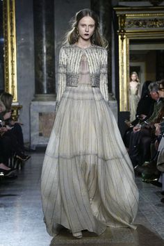 Luisa Beccaria Ready To Wear Fall Winter 2015 Milan...OMG absolutely GORGEOUS!!!. Just add bridal embellishment that fit your style & your are ready for that special day. Cheaper to have custom-made than purchasing from salon. Work with a seamstress to achieve this look for that ultimate bridal look.