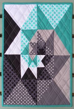 Love this quilt block - great colours and interesting design (inspired by a Gotye song film clip) Flying Blind On A Rocket Cycle: Modern Mini Challenge Quilting Tutorials, Quilting Projects, Quilting Designs, Sewing Projects, Star Quilts, Mini Quilts, Baby Quilts, Quilt Block Patterns, Quilt Blocks
