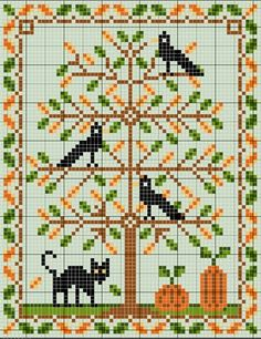 Le Chat et les Corbeaux (The Cat and the Crows) - would like to change to a non-Halloween autumn version