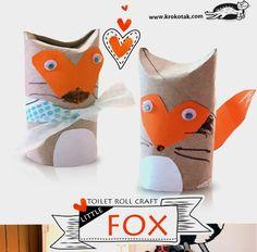 A toilet paper roll fox.                                           Gloucestershire Resource Centre http://www.grcltd.org/scrapstore/