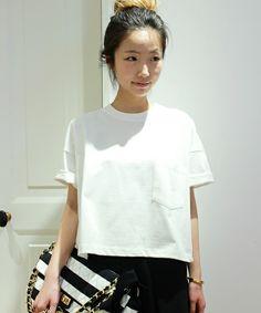 Deuxieme Classe(ドゥーズィーエムクラス)の【予約】COTTON ワイドポケTシャツ(Tシャツ/カットソー) ホワイト