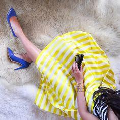 Wendy Nguyen @wendyslookbook Stripes & dot...Instagram photo | Websta (Webstagram)