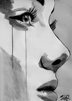 Saatchi Art Artist: Loui Jover; Pen and Ink 2012 Drawing Pain