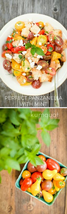 farmer's market inspiration plus a simple vinaigrette, toasted grain-free baguette, and lovely produce equals this grain free perfect panzenella…