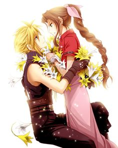 Final Fantasy VII - Cloud Strife x Aerith Gainsborough - Clerith