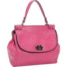 Jessica Simpson Natalie Top Handle Satchel Magenta - Jessica Simpson Manmade Handbags