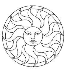 Mandalas Sol Dibujos Para Colorear