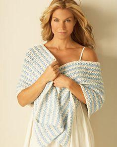 Crocheted Striped Wrap