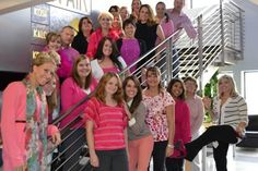 KOSI staff wears pink for Breast Cancer Awareness Month in October.