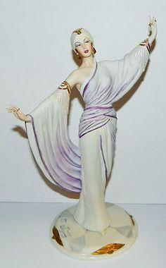 Capodimonte Italy Sandro Maggioni Porcelain Lady Figurine Art Deco Fashion 1924