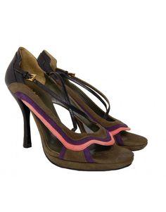Prada Open Toe Heeled Shoe, side front Shoes For Less, Designer Shoes, Open Toe, Prada, Shoes Heels, Footwear, Fashion, Moda