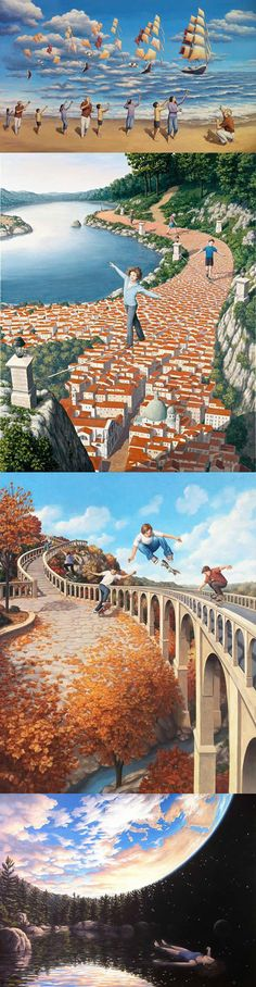 Mind Bending Optical Illusion Paintings by Rob Gonsalves