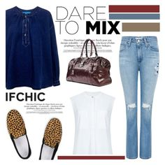 """""""Dare to mix!"""" by ifchic ❤ liked on Polyvore featuring moda, AG Adriano Goldschmied, Amb Ambassadors of minimalism, Atea Oceanie, women's clothing, women, female, woman, misses y juniors"""