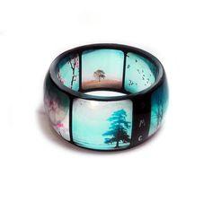 INSTABANGLE Nature Resin Bangle Instagram Bangle Bracelet Flower  by BuyMyCrap, $50.00