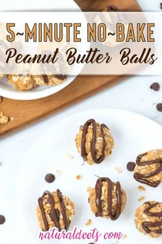 These no-bake peanut butter balls come together faster than a trip to the cookie store! Dairy-free chocolate chips and natural peanut butter make these a delicious and healthy choice for little hands. Have you tried these energy balls yet?? I make them all the time and can't believe I haven't shared them before today! | Natural Deets @naturaldeets #nobakeenergyballs #energyballs #healthysnacks #healthybites #peanutbutterballs #naturaldeets Clean Eating Recipes, Easy Healthy Recipes, Clean Eating Snacks, Real Food Recipes, Dessert Recipes, Food Tips, Delicious Recipes, Dairy Free Chocolate Chips, Vegetarian Chocolate