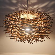 40 Lampe suspendue , Contemporain Traditionnel/Classique Rustique Retro Rétro Lanterne Autres Fonctionnalité for LED Bois/BambouSalle de de 4772593 2017 à €41.15
