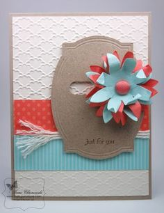 Tutorial for a spinner card made with the Pop-Up Posie kit from Stampin' Up!, Tami Chronowski, Sharing What I Love