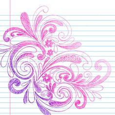 Hand-Drawn Doodle Swirls