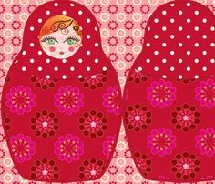 coussin_poupée_russe fabric by nadja_petremand on Spoonflower - custom fabric