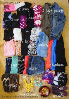 How to Pack 16 Days in a Carry On. How to Pack for a Beach Vacation, What to Pack on a Beach Vacation, Beach Trip, Summer Trip, Spring Break PCB roomie trip to panama city beach! Vacation Packing, Vacation Outfits, Packing Tips For Travel, Summer Outfits, Packing Lists, Cruise Packing, Packing Checklist, Packing Outfits, Vacation Ideas