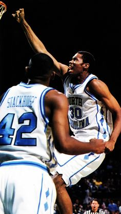 Jerry Stackhouse & Rasheed Wallace when he was still somewhat likeable playing for North Carolina