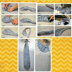 Lo encontré en fb y me parece una buena idea para reciclar las corbatas, es tan simple que no creo ocupe descripción