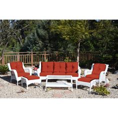 Darby Home Co Herrin 6 Piece Rattan Sofa Set with Cushions Rattan Sofa, Outdoor Furniture Sets, Outdoor Decor, Patio Chairs, Sofa Set, Outdoor Living, Pergola, Cushions, Indoor