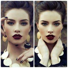 Merlot lips with smokey eyes!! Fall trend!!