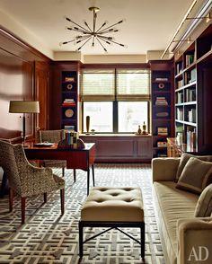 Кабинет в квартире вВерхнем Ист-Сайде, Нью‑Йорк. Дизайнер Гидеон Мендельсон. Фото: Eric Piasecki/Otto Archive/Photofoyer.