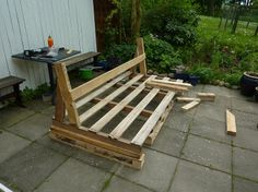 Bench out of pallets! Pretty sure my whole house is going to be made of pallets.