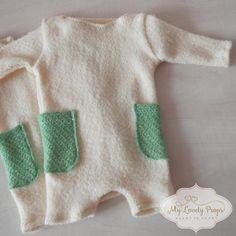 Newborn boy romper-sewing romper-newborn props-newborn boy