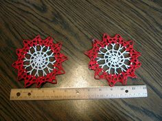 2 Small Crochet Doilies for Craft Projects / by VintageLoversShop