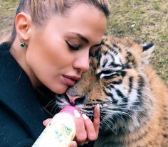 """71.5k Likes, 423 Comments - Victoria Bonya (@victoriabonya) on Instagram: """"Nothing but #LOVE ❤️ This tiger was named after me #Bonya #tigerbonya Such a strong connection…"""""""