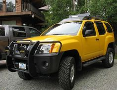 Nissan Xterra -always wanted this when I was in high school, yellow and all, would still love one!