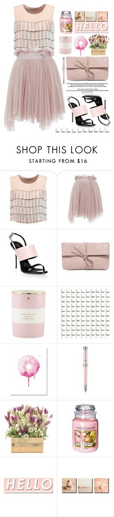 """10.02.17"" by malenafashion27 ❤ liked on Polyvore featuring Alexis, Maria Lucia Hohan, Giuseppe Zanotti, LULUS, Kate Spade, Cole & Son, Montegrappa and Yankee Candle"
