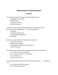 Enhancement in Food Production – MH-CET 2015 To read more visit here: http://www.ednexa.com/mh-cet-2015/enhancement-in-food-production/