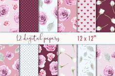 Digital scrapbooking paper By MyLittleMeow
