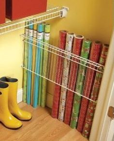 Wrapping Paper Storage | Easy Organization Ideas for the Home