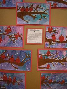 This year Keller school did an Interest Fair which included a small art show. Christmas Art Projects, Winter Art Projects, School Art Projects, Winter Project, Art School, 3rd Grade Art Lesson, Third Grade Art, Grade 3, January Art