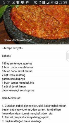 Aneka Sambal Tofu Recipes, Asian Recipes, Cooking Recipes, Healthy Recipes, Drink Recipes, Sambal Recipe, Malay Food, Western Food, Malaysian Food
