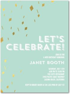 We're celebrating Tiny Prints birthday in the only way we know how. Shop our collection of party invitations, birth announcements, stationery, and more. Unique Invitations, Invitation Paper, Invites, Adult Birthday Party, Baby 1st Birthday, Mint Party, Tiny Prints, 1st Birthday Invitations, Lets Celebrate