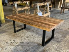 Braun Farm Tables and Furniture, Inc. Barnwood Dining Table, Farmhouse Table, Wood Table, Unique Furniture, Custom Furniture, Wood Furniture, Eclectic Living Room, Living Room Designs, Amish Country