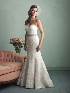 Allure Bridals Fall 2014 Collection | Style 9157 Wedding Dress Vintage Wedding Dresses mermaid lace wedding dresses