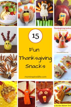 I love to make fun food for my kids during holidays and I decided to compile a list of some of my favorite fun Thanksgiving snacks for kids.